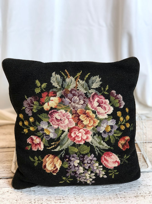 Embroidered Floral - Square Pillow (Medium)