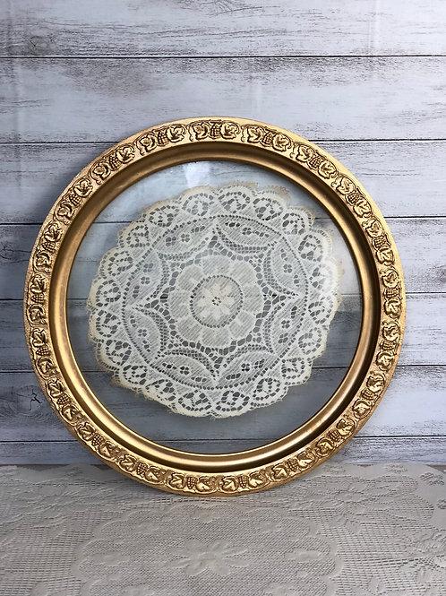 Gold & Lace Circular Platter