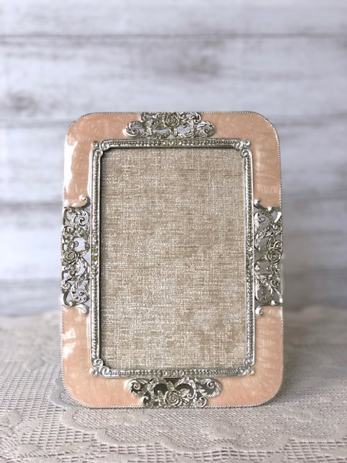 Dusty Pink & Silver Picture Frame