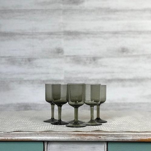Smokey Grey Liqueur Glasses