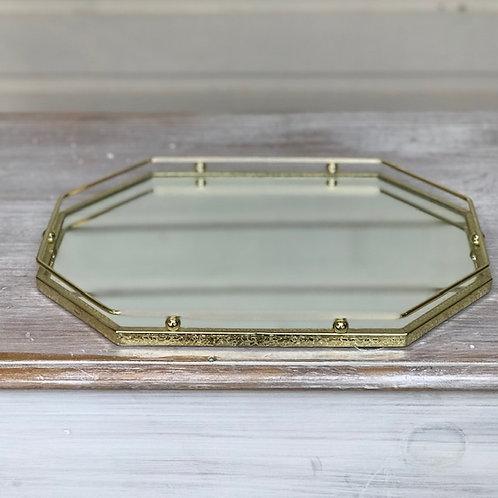 Retro gold mirrored tray
