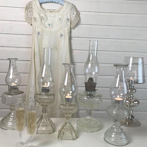 Vintage Storm Lantern Candelabras or Flower Vases