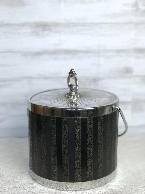 Black & Silver Ice Bucket