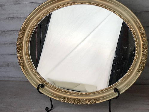 Gold Dust Oval Mirror