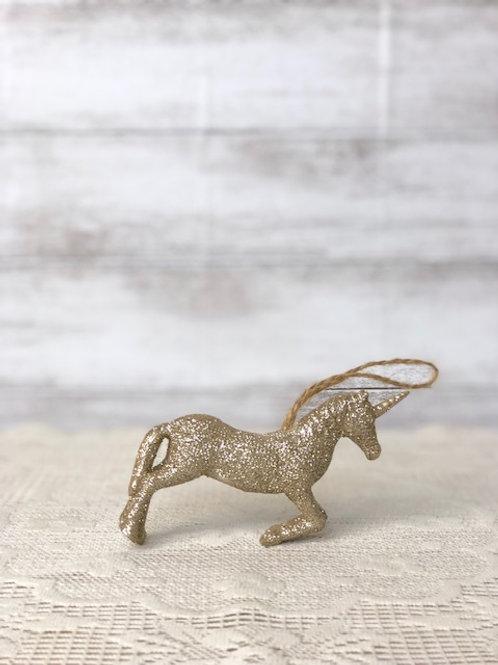 Small Hanging Golden Sparkle Unicorn