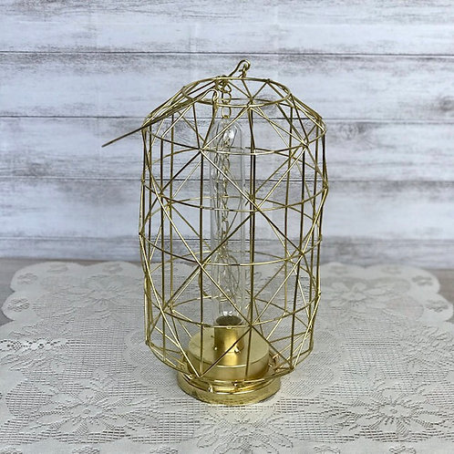Geometric Gold Lamp