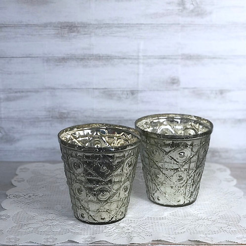 Silver Tea Light Cups