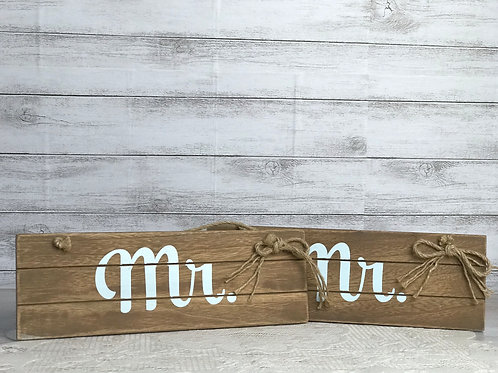 Mr. & Mr. Wooden Sign