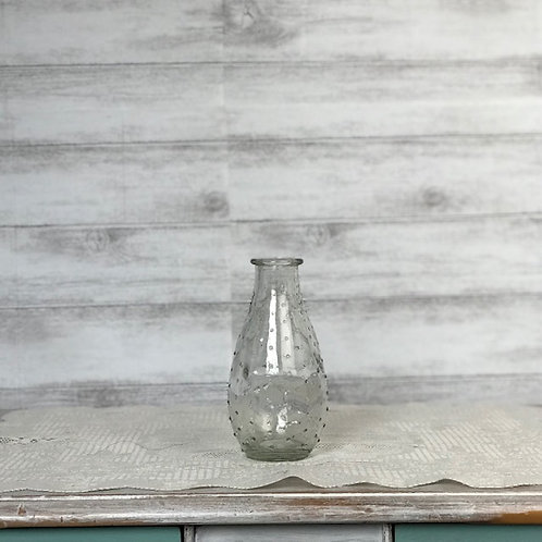 Small Ribbed Glass Vase