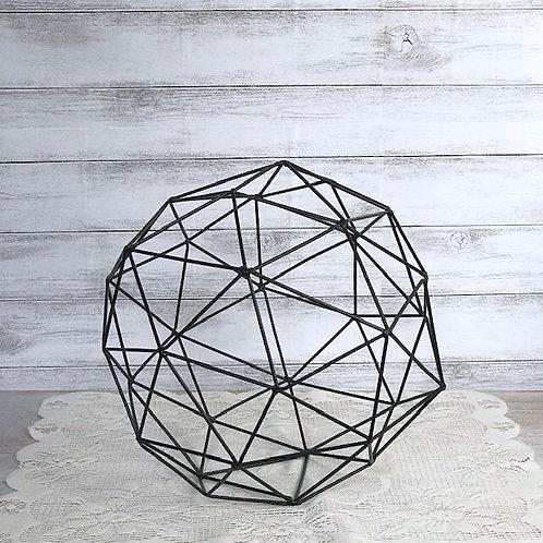 Geometric Black Iron Sphere