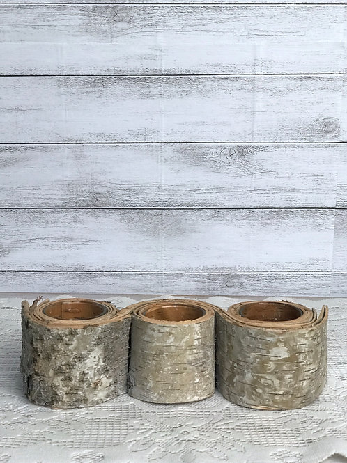 Tree Bark Candle Trio