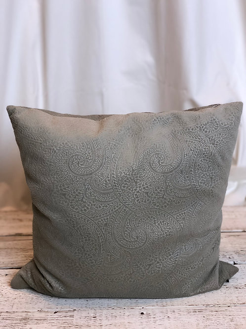Taupe Damask Embossed Pillow