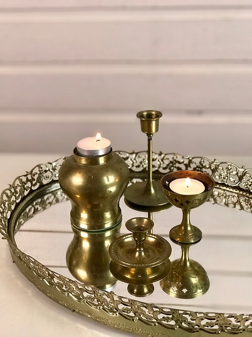 Assorted Brass Candlesticks