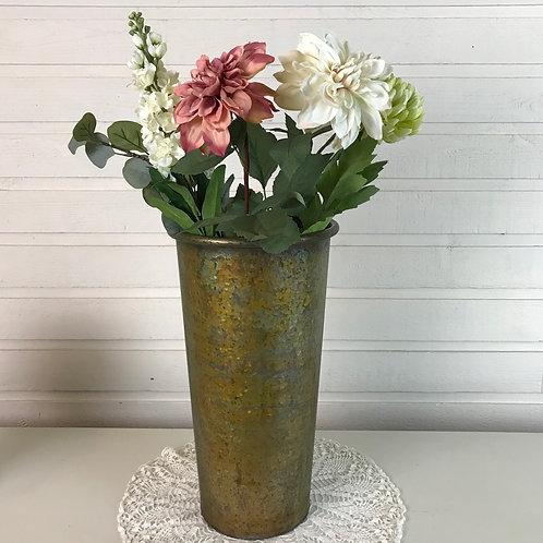 Golden Tin Vase