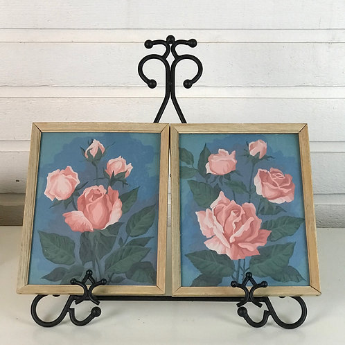 Painted Rose in Frames