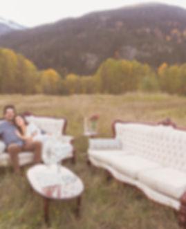 Outdoor Wedding Lounge in Field