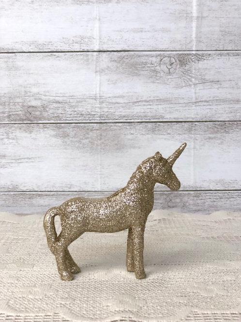 Small Golden Sparkle Unicorn