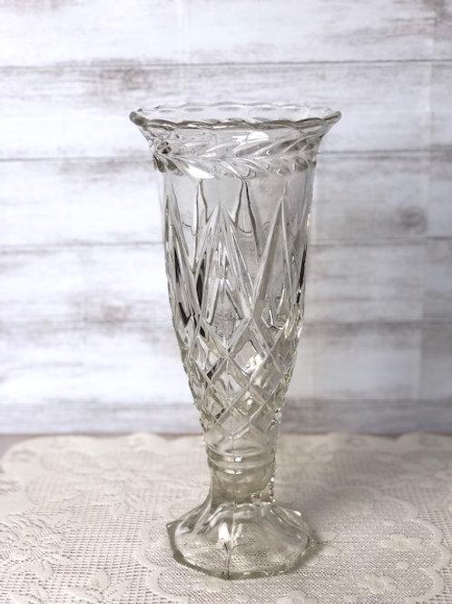 Etched Crystal Vase