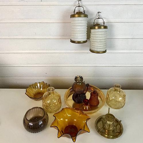 Amber & Lantern glass set
