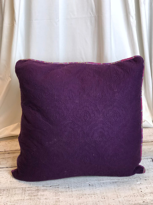 Violet Paisley Pillow