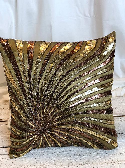 Gold & Bronze Sequins Pillow