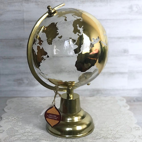 Glass & Gold Globe