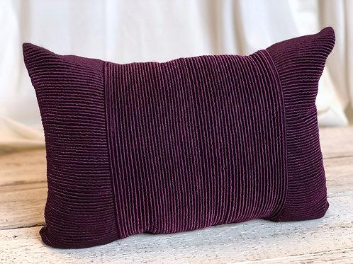 Violet Ribbed Rectangular Pillow