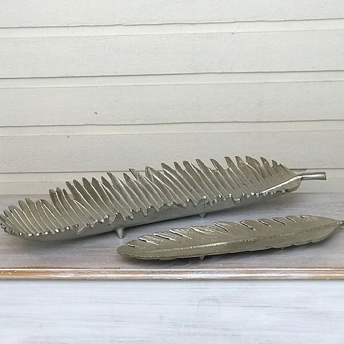 Silver Feather Trays
