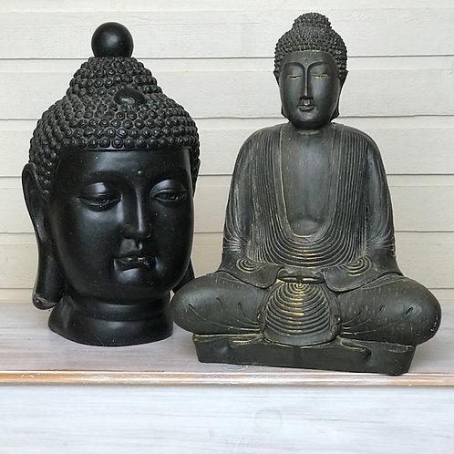Buddha Statues (set of 2)