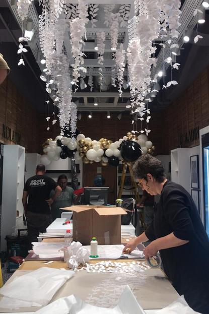 Paper Art ceiling design