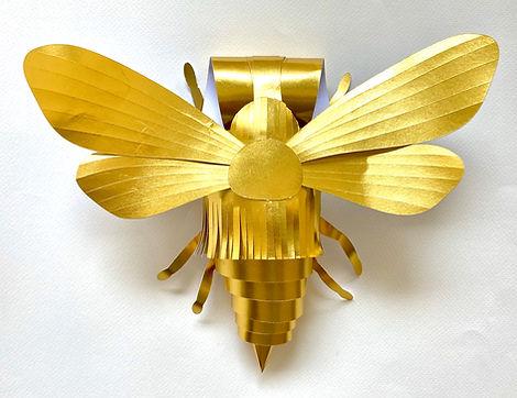 אתגר הדבורה, יצירת דבורה מנייר כאתגר יצירתי