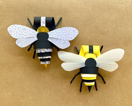 beecreative challenge paper bee