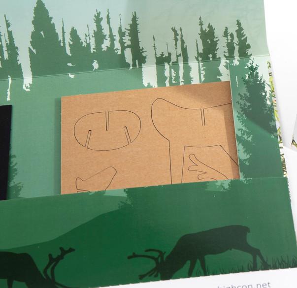 Cardboard deer kit