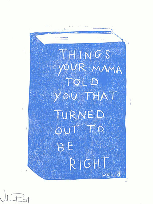 """16x20"""" / """"Things Your Mama Told You"""" / ORIGINAL Woodcut on Printmaking Paper"""