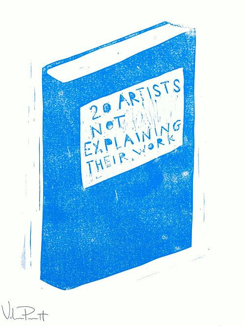 "16x20"" / ""Artists Not Explaining"" / ORIGINAL Woodcut on Printmaking Paper"
