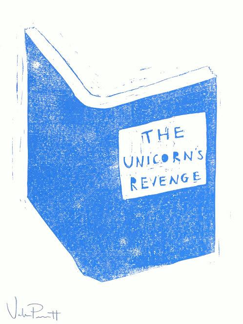 "12x16"" / ""Unicorn's Revenge"" / ORIGINAL Woodcut on Printmaking Paper"