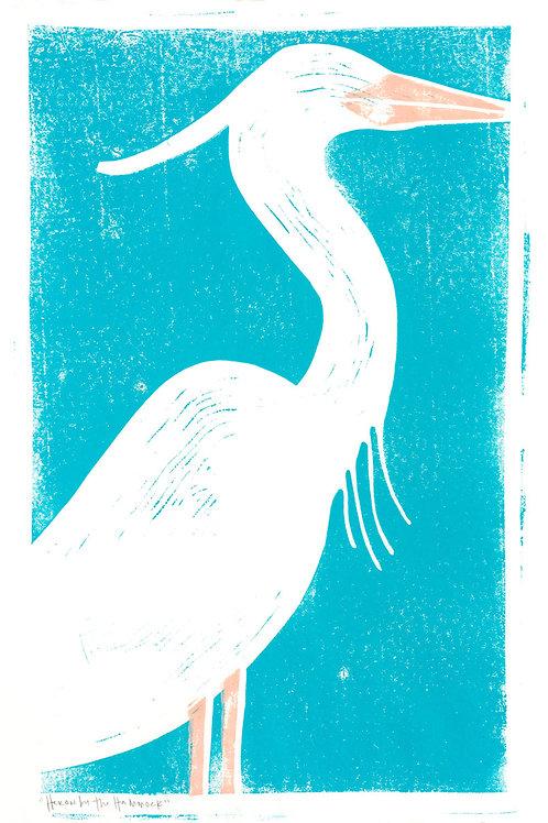"Archival Print / ""Heron by The Hammock"""