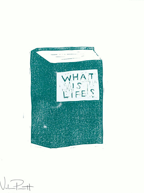 "16x20"" / ""What is Life?"" / ORIGINAL Woodcut on Printmaking Paper"