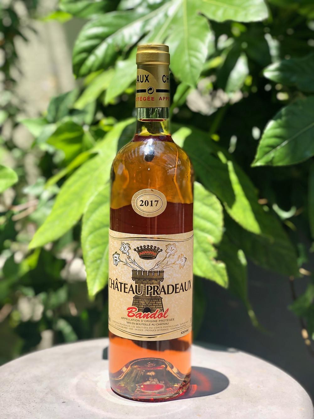 Bandol Rosé; Chateaux Pradeaux; Provence Rosé