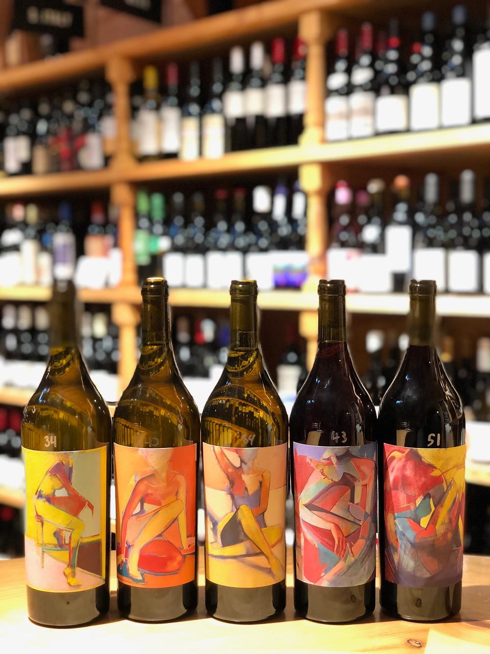 Natural Cali Wine label art