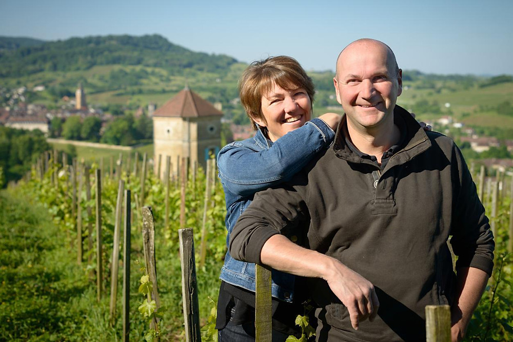 Stéphane and Bénédicte Tissot natural winemakers in Jura France