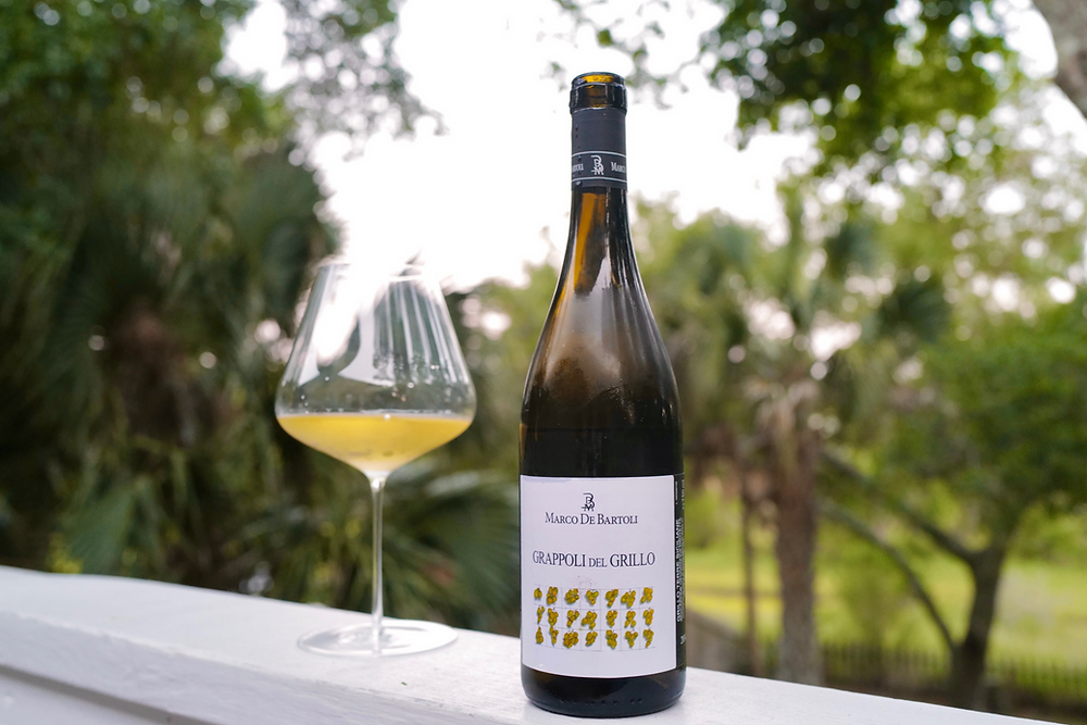 dry white wine from the grillo grape, a native grape of Sicily that is used for Marsala production