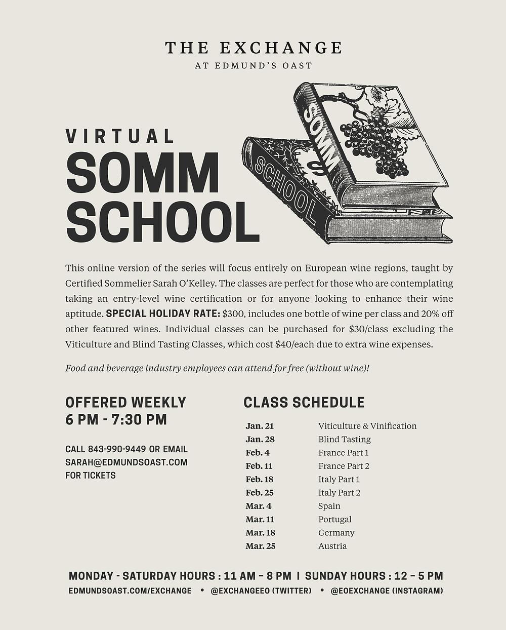 Virtual Wine Class, wine school, wine education