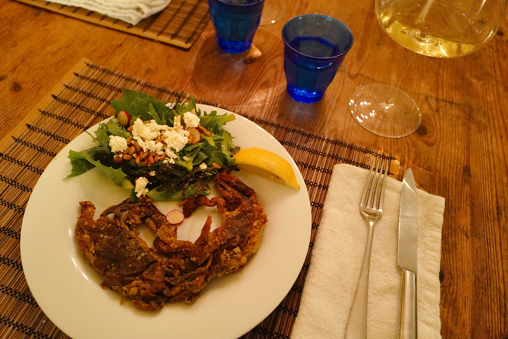 Fried Soft Shell Crabs South Carolina Seafood paired with wine