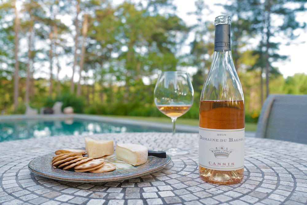 Domaine du Bagnol rosé from Provence, Cassis, France with age 2018 vintage