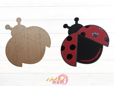 Paint Your Own Ladybug Wood Cutout