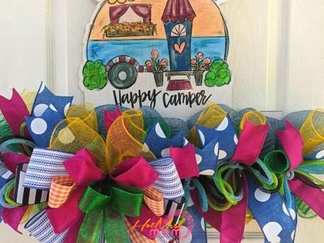 Happy Camper Wreath Rail Tutorial