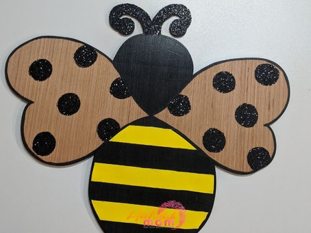 How to Paint a Bee Wood Cutout