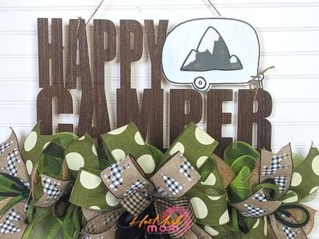 DIY Everyday Door Hanger for Happy Campers