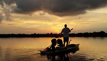 Sunrise kayak charter fishing new orleans, louisiana